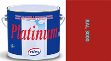 Vitex Platinum satén RAL 3000 0,75L